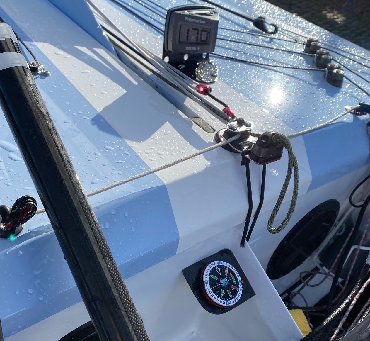 TackingMaster mounted in the latest and fabulous OK Dinghy